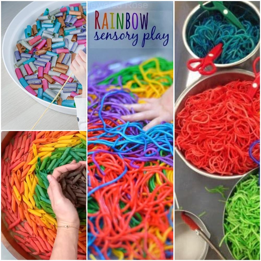 Δραστηριότητες παιδικής δημιουργικότητας: Χρωματιστα μακαρονάκια