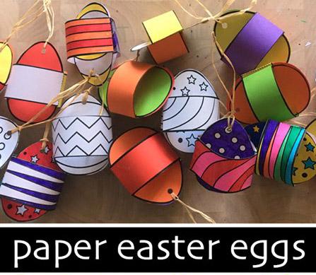 Χάρτινα Πασχαλινά διακοσμητικά Αυγά
