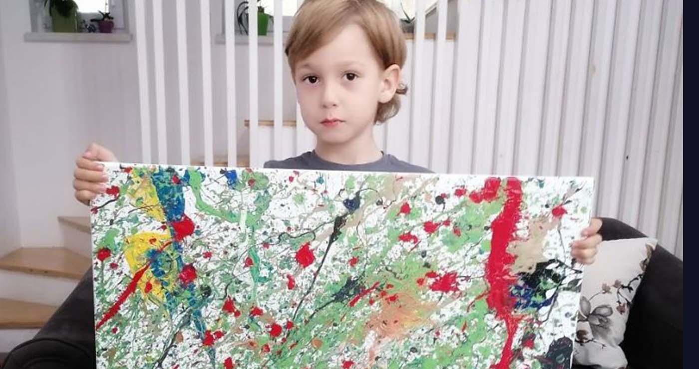5χρονος με αυτισμό  ζωγραφίζει τους πιο συγκλονιστικούς πίνακες – Thisisus.gr