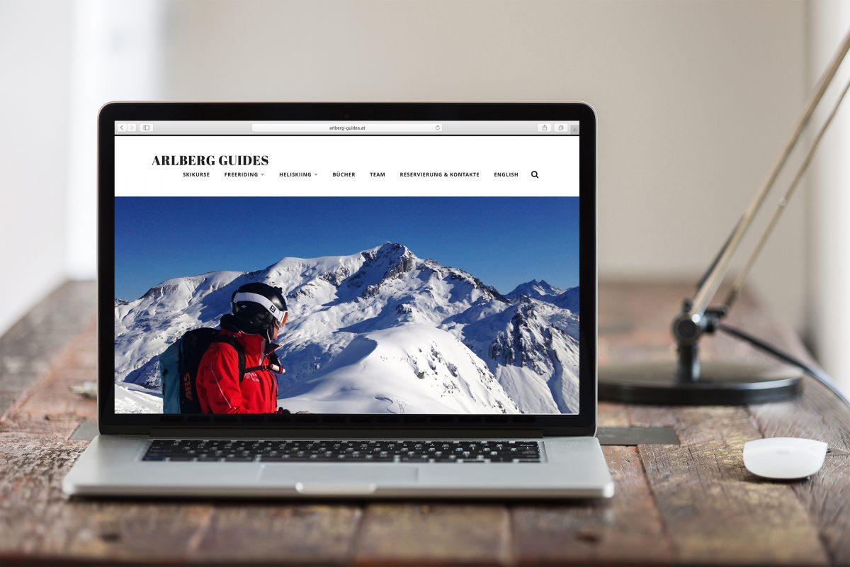 webdesign hjemmeside arlbergguides ski