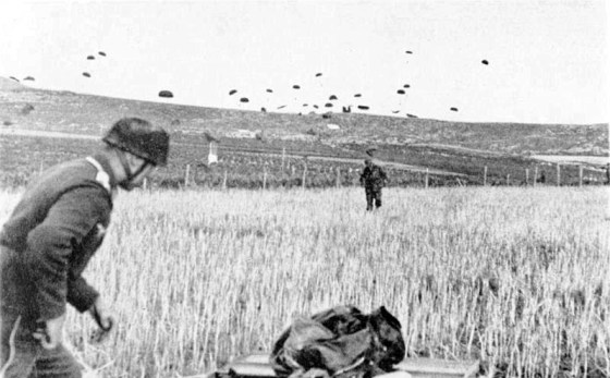 The first wartime air drop in history took place on April 9, 1940 in Denmark.