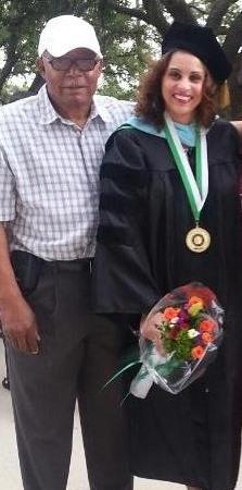 Dr. Britine Burton and her father Gene Perkins