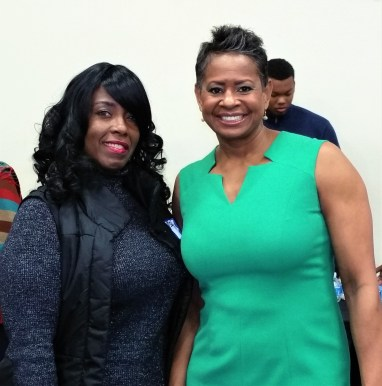 Teddi Jones with Yolanda Harper