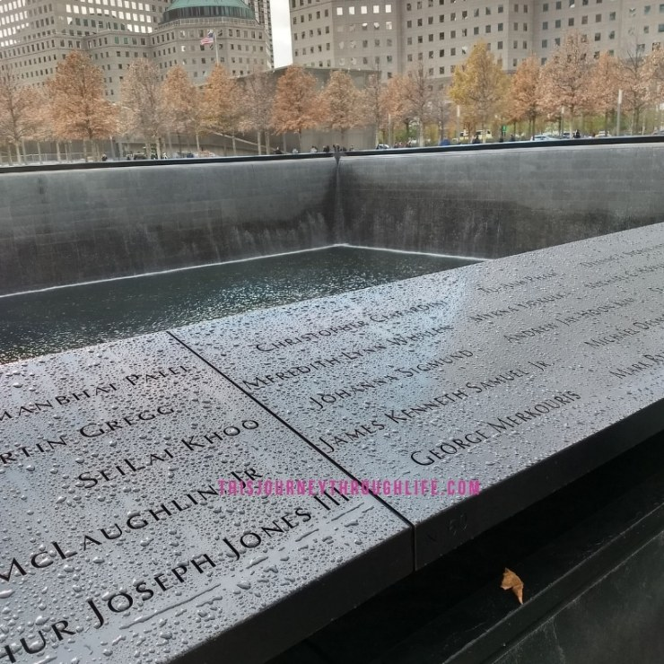 This Journey Through Life - NYC 911 memorial pool