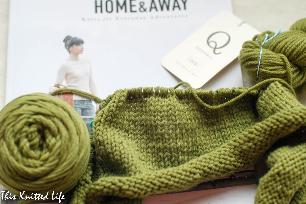 Casting on Hannah Fettig's Rosemont Cardigan from Home & Away
