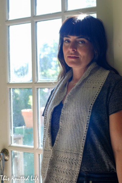 The lovely Metamorphosis Cowl knit in Woolfolk Sno (fingering weight). A perfect knit for all occasions.