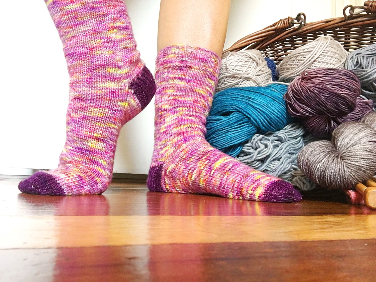 A new pair of socks from Andrea @ This Knitted Life