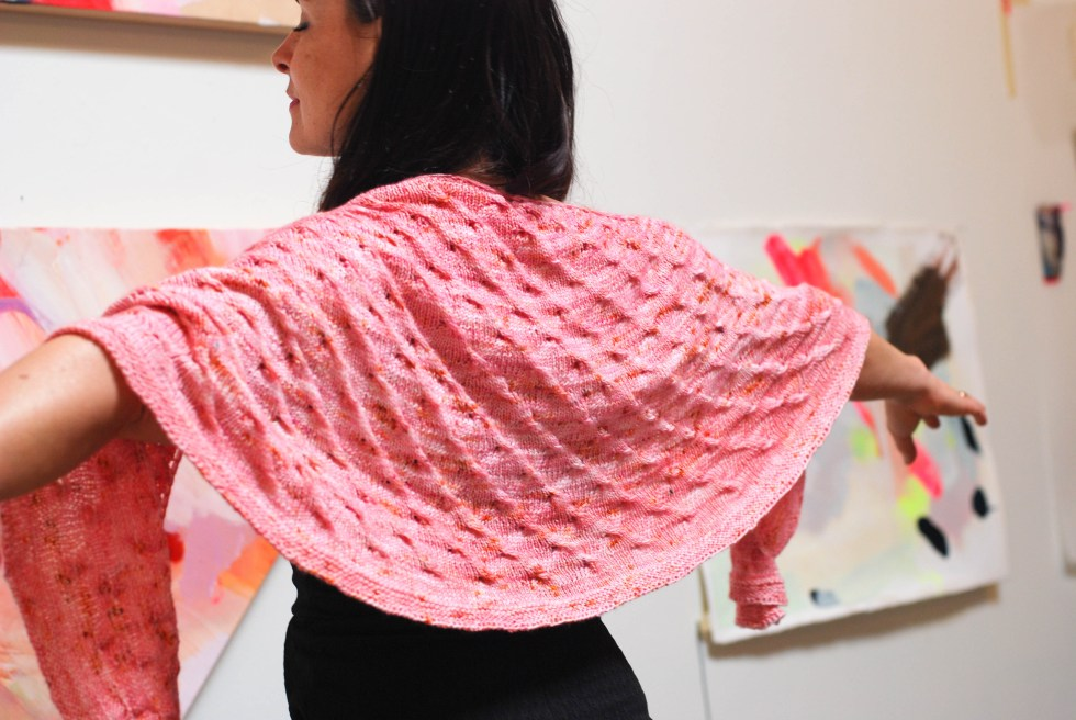 Twist Shawl pattern by Andrea @ This Kitted Life