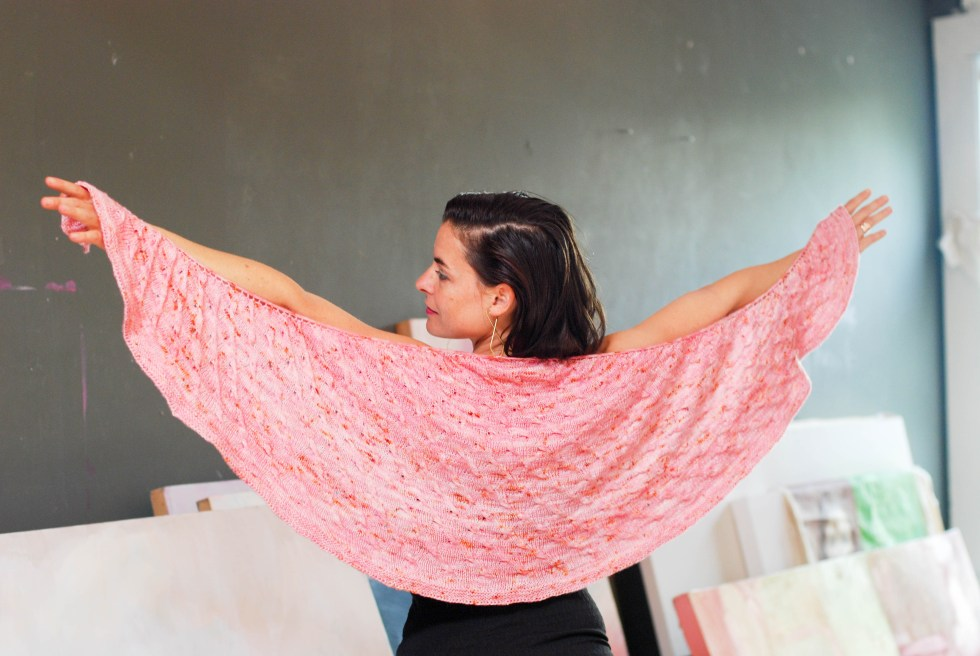 Twist Shawl knitting pattern by Andrea @ This Knitted Life