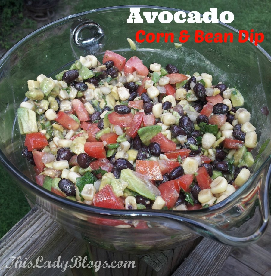 Avocado Corn & Bean Dip Recipe