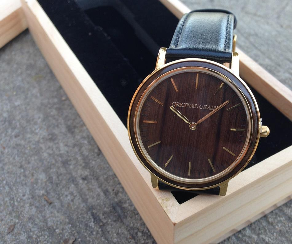 black original matte latest watch watches beauty a minimalist men fashion wood ebony grain is s