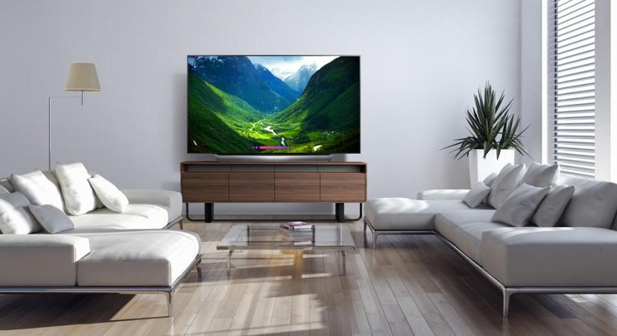 LG OLED C8 4K Smart TV in living room