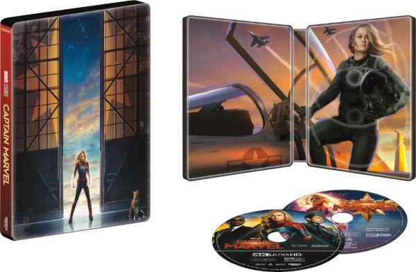 Captain Marvel SteelBook interior.