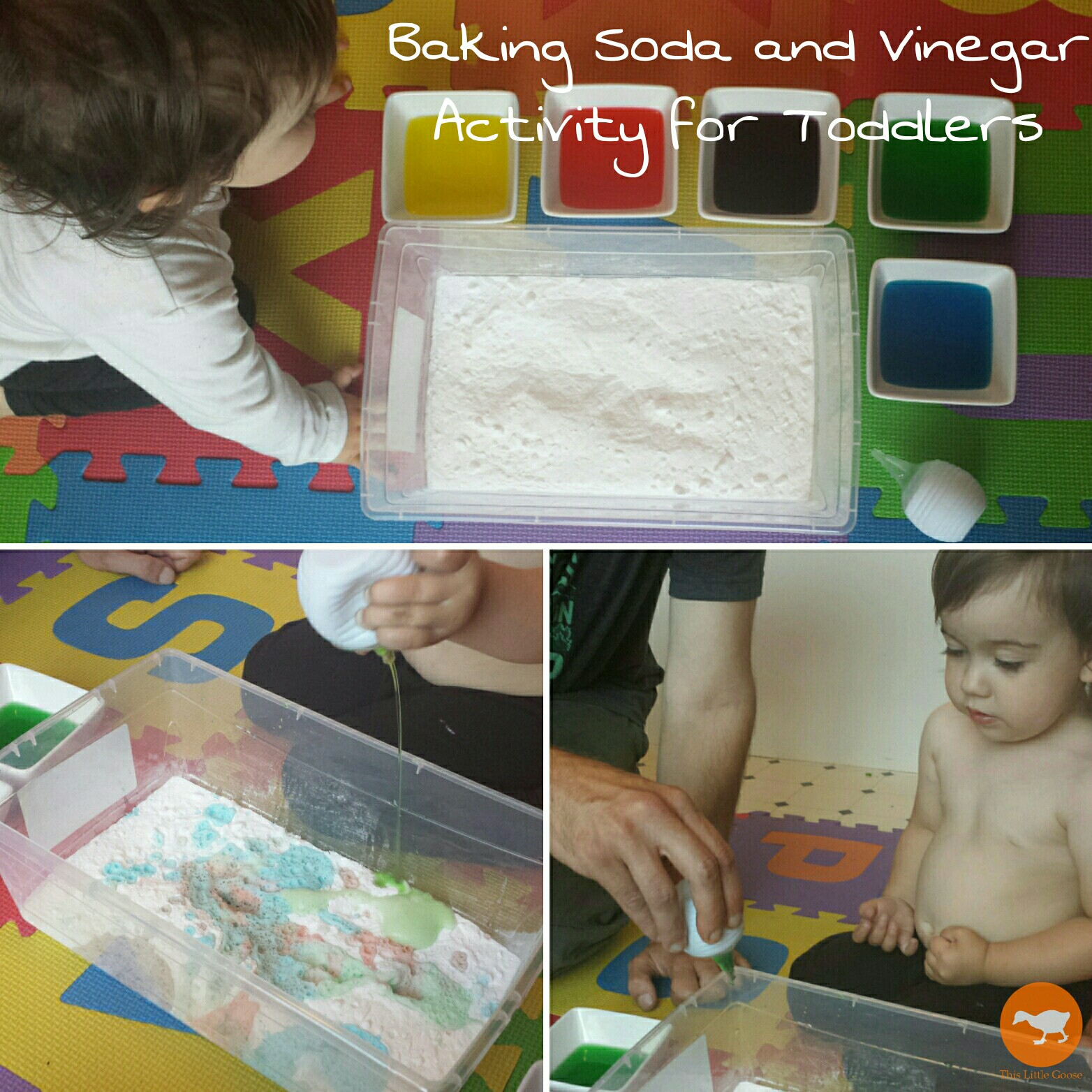 Baking Soda And Vinegar Activity For Toddlers