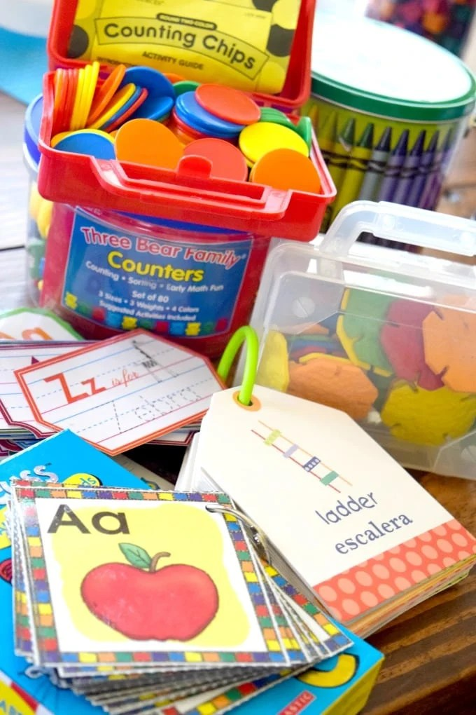 Homeschool Preschool Manipulatives by This Little Home of Mine