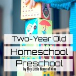 Two-Year Old Homeschool Preschool