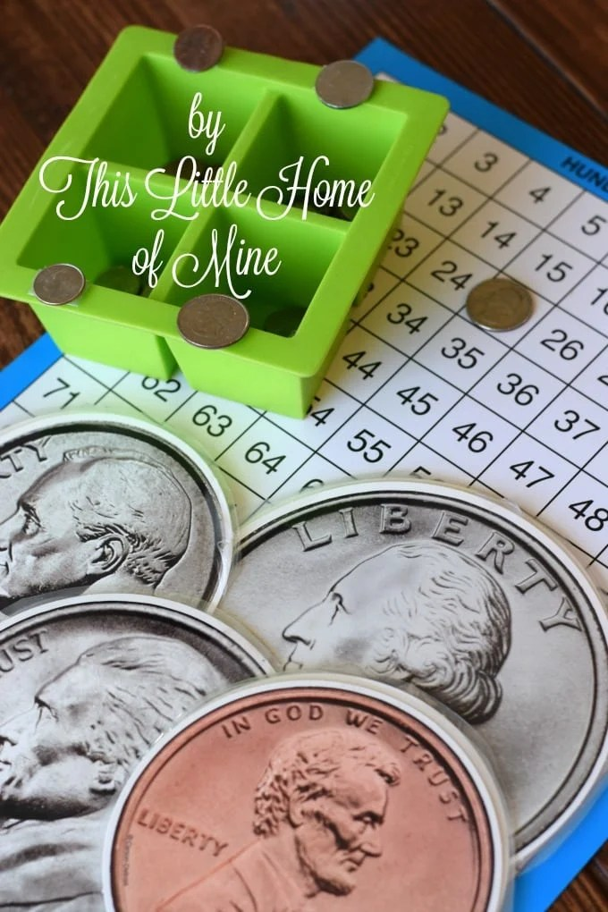 Homeschool Morning Routine: Counting Money by This Little Home of Mine