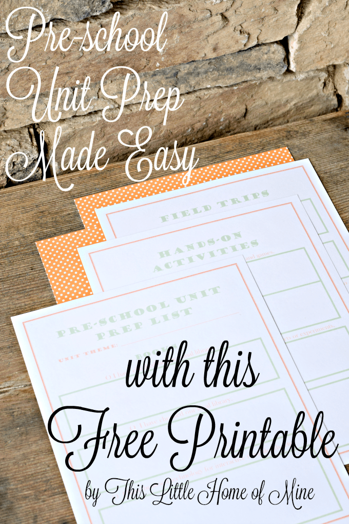 Preschool Unit Prep Made Easy with this Free Printable by This Little Home of Mine