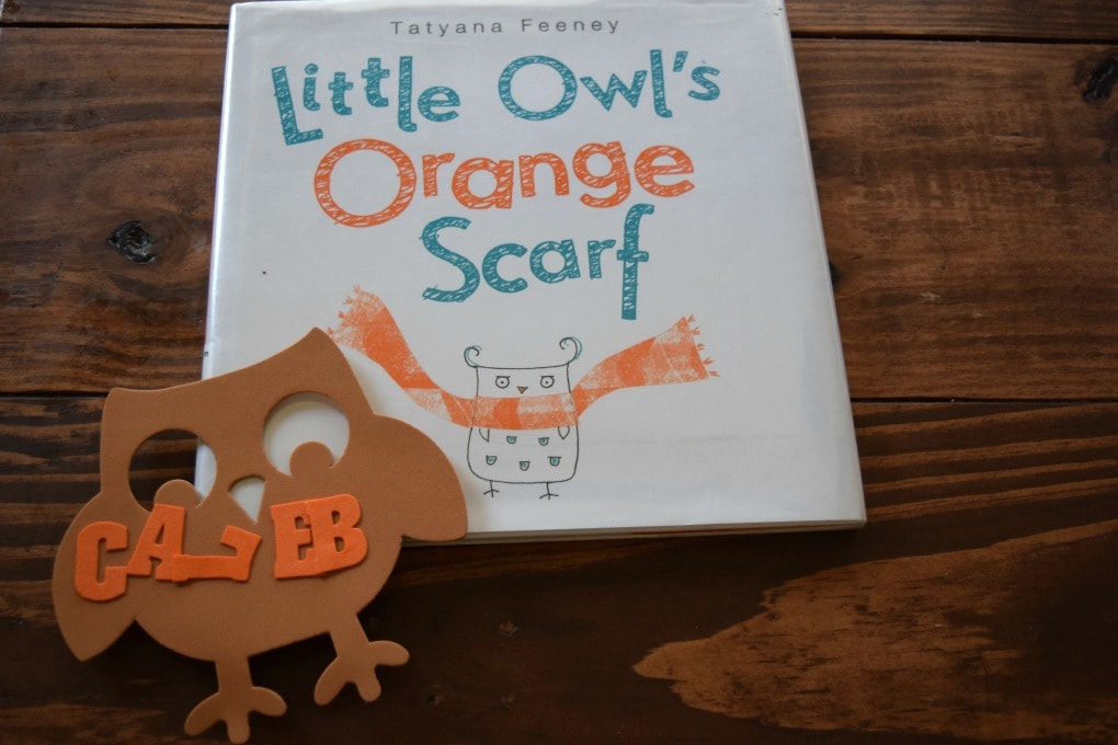 Thanksgiving Day Activities - Little Owl's Orange Scarf by This Little Home of Mine