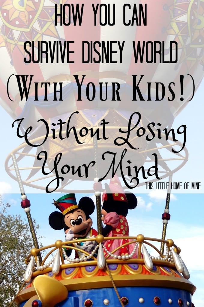 How You Can Survive Disney World with Kids Without Losing Your Mind by This Little Home of Mine