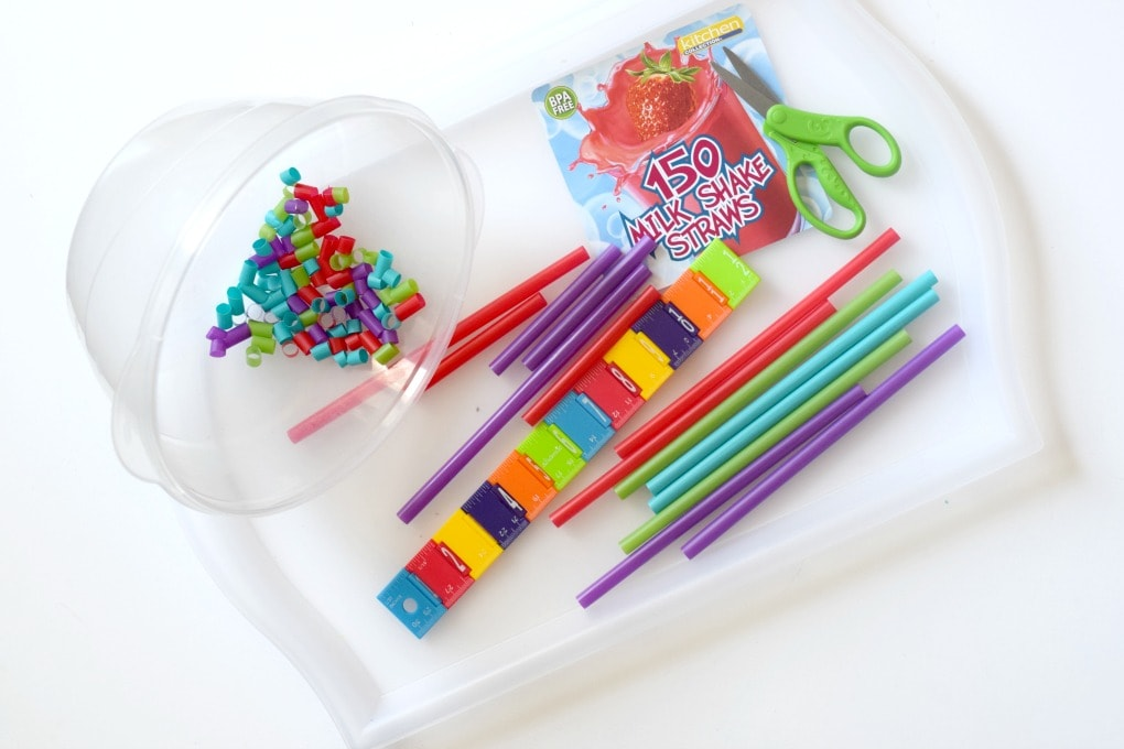 Fine Motor Activity: Cutting Straws by This Little Home of Mine