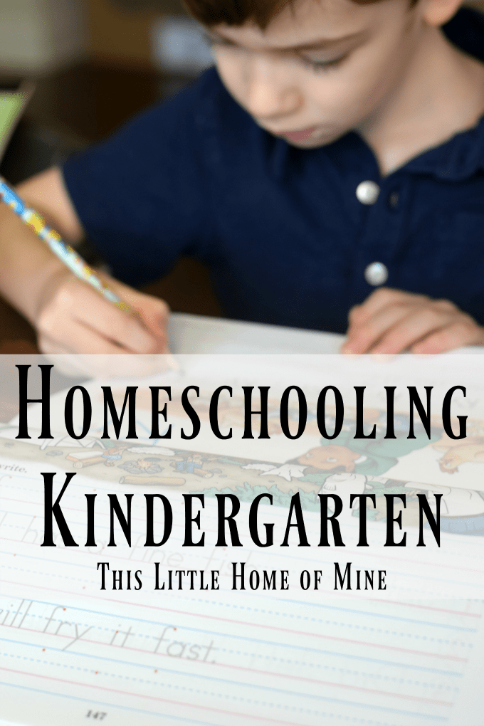 Homeschooling Kindergarten by This Little Home of Mine