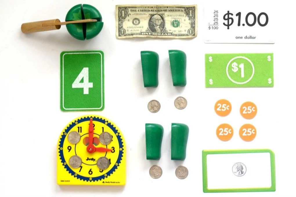 Simultaneously Teach Symmetry, Fractions, & Money