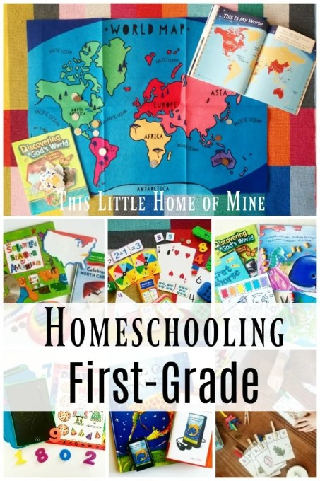 Homeschooling First Grade by This Little Home of Mine