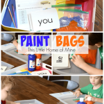 Paint Bags: Letters, Sight Words, Spelling Words, & More!