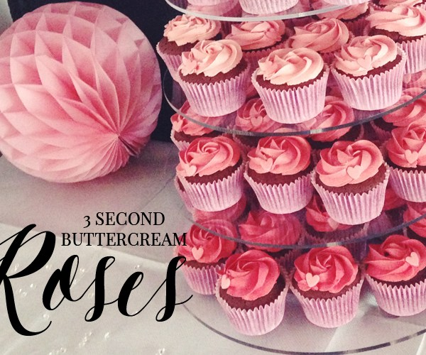 CAKE CLUB | HOW TO PIPE BUTTERCREAM ROSES IN 3 SECONDS