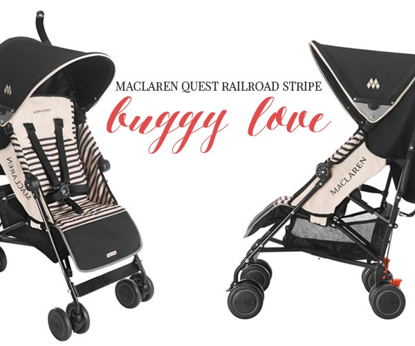 BUGGY LOVE | MACLAREN QUEST RAILROAD STRIPE