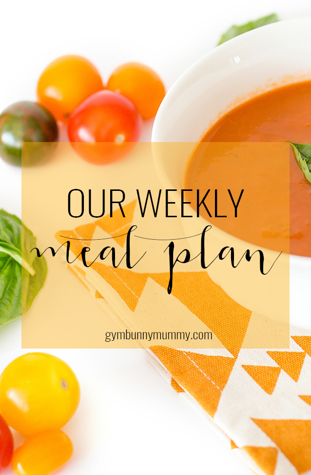 Our weekly meal plan, planning healthy, slimming world friendly meals for the family @gymbunnymum