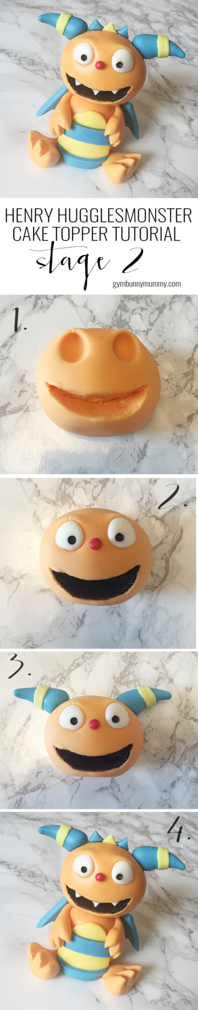 Step by step Henry Hugglemonster cake topper tutorial. How to make a Henry Hugglemonster cake for you little monster :)