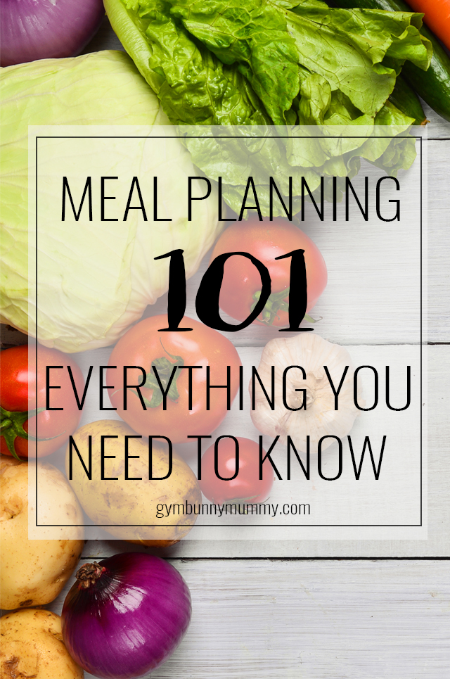 Meal PLanning 101, everything you need to know about how yo meal plan, save money & reduce food waste