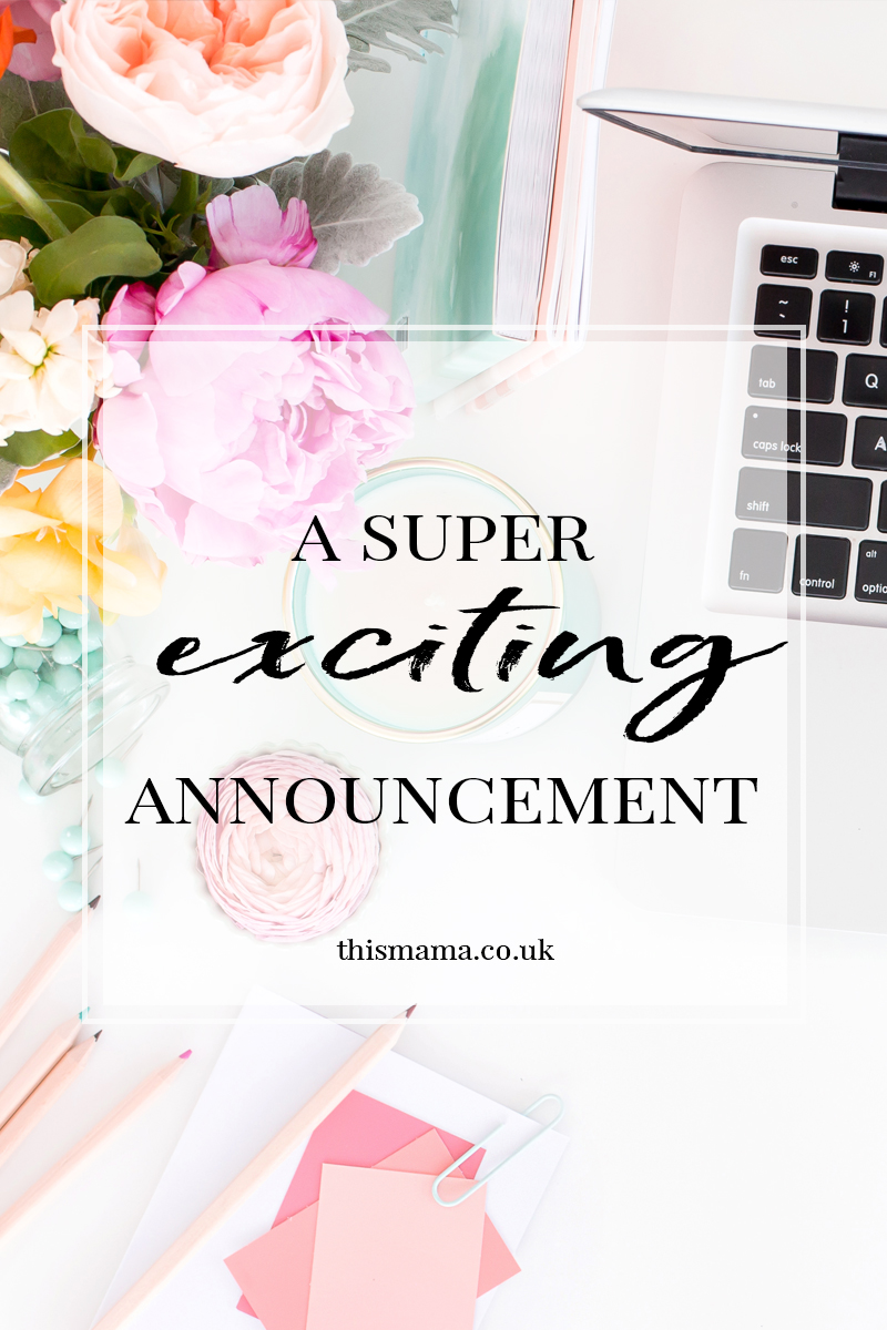 There's a super exciting announcement over on the blog today, go check it out!!