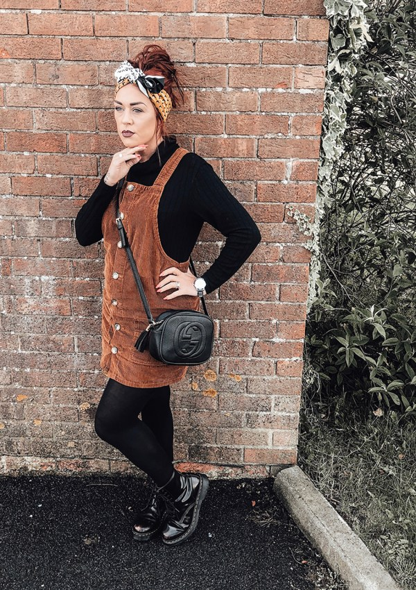 the cord pinafore dress #everydayfashion, #verydaystyle, #mumfashion, #mumstyle, #over30fashion, #over30style, #schoolrunmumstyle, #thismamastyle,