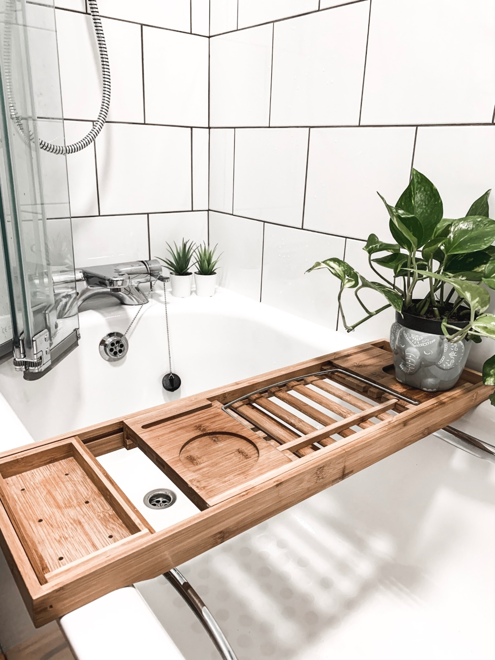 Our New Bathroom | White, neutral, wood, natural