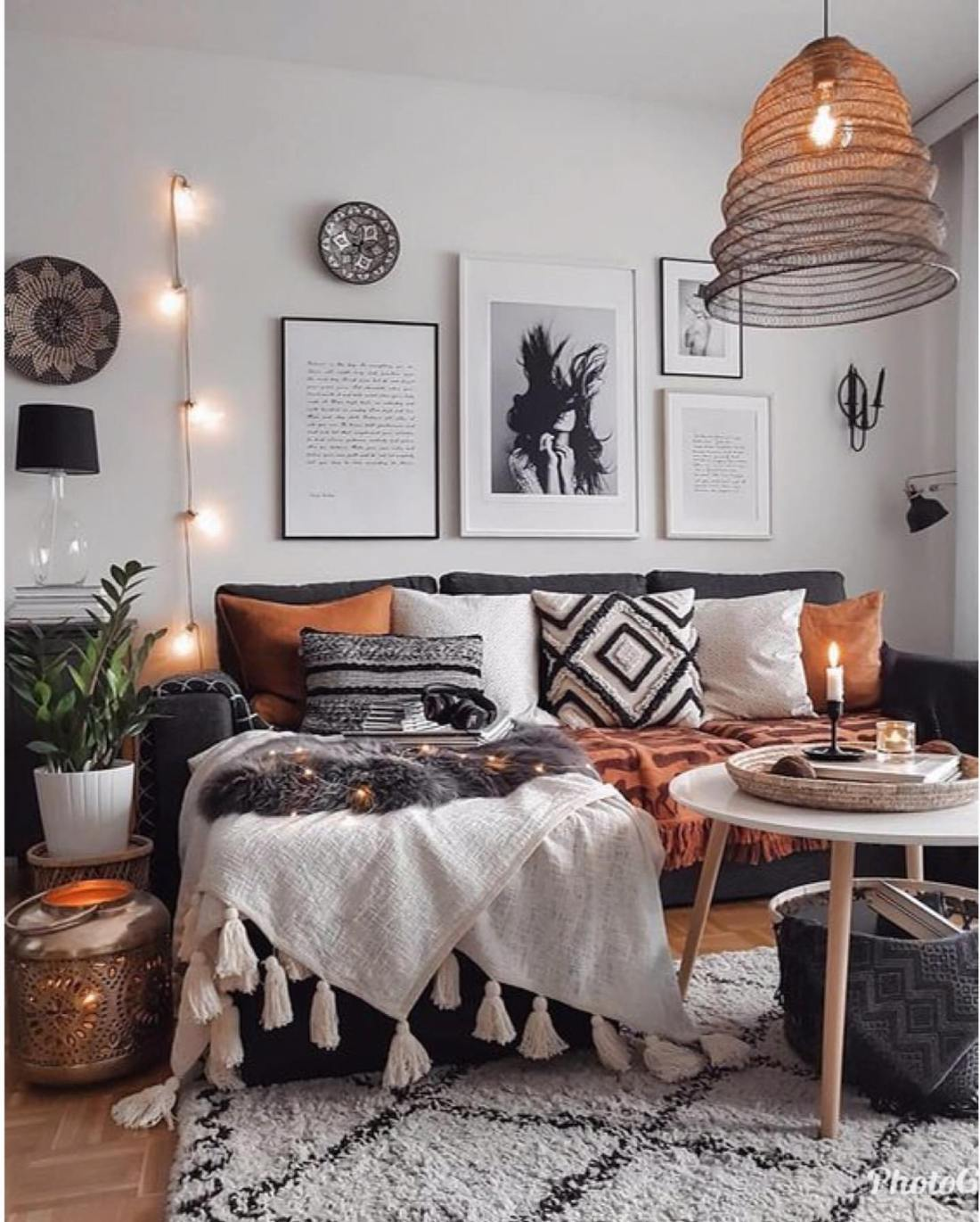 cosy boho living room ideas 8