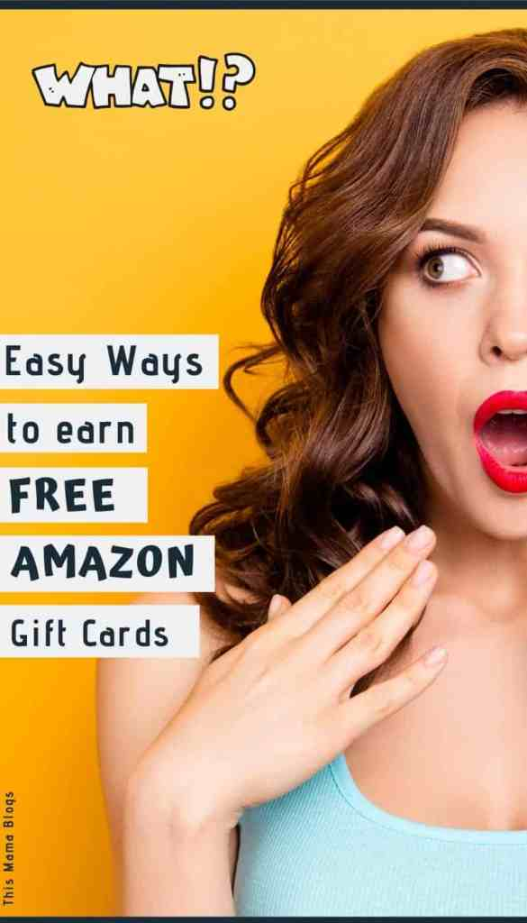 Did you know you can get free Amazon gift cards? Earning free Amazon gift cards can help you buy gifts, household items, kitchen appliances, decors, clothing and even food! If you want to save money , getting these free gift cards is a great way to do so! Here's 17 easy ways to earn free Amazon gift cards today! #makemoney #moneyhacks