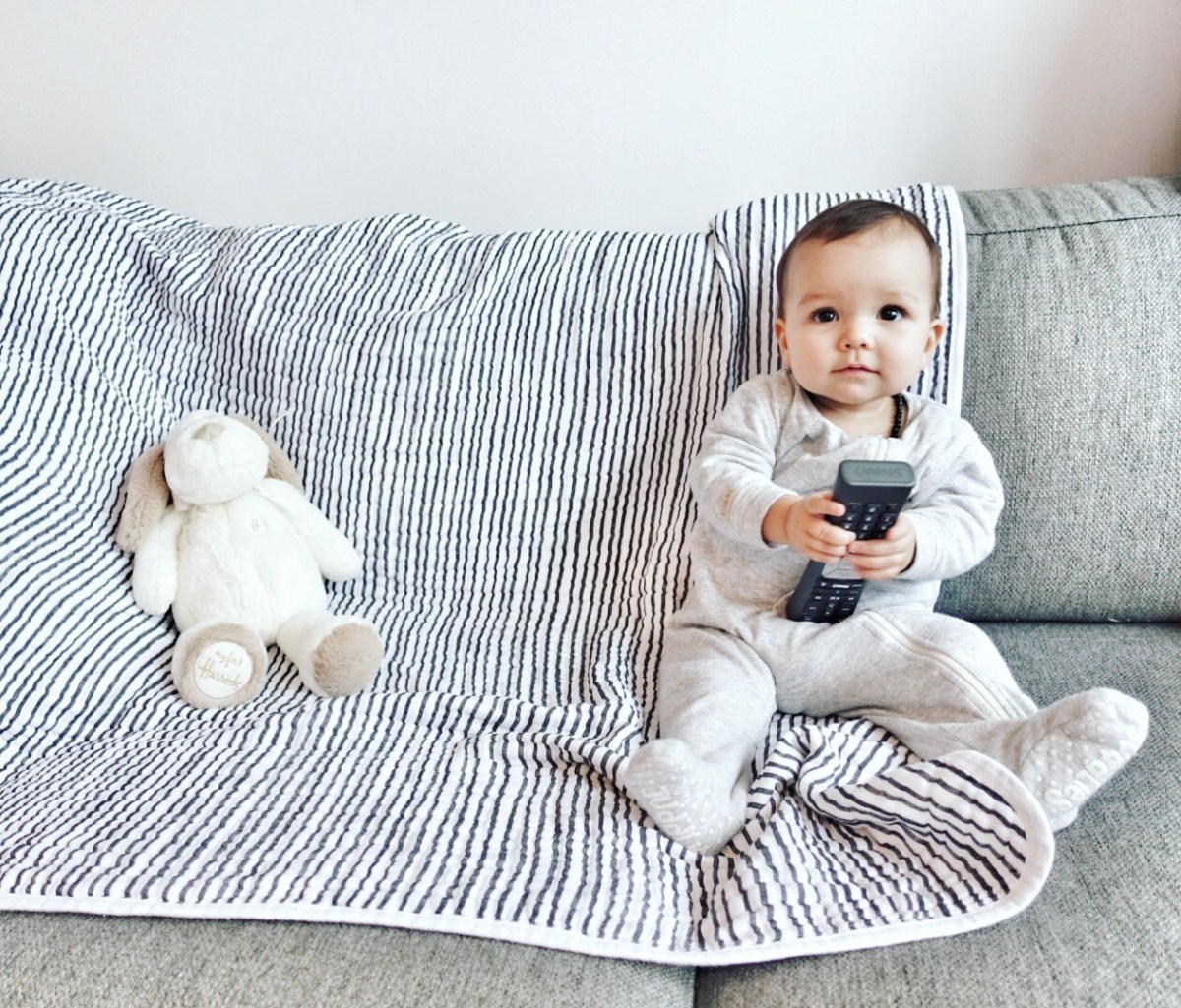 Baby loves the remote control