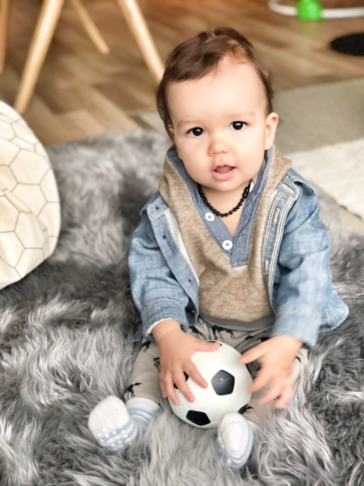 playing with the soccer ball