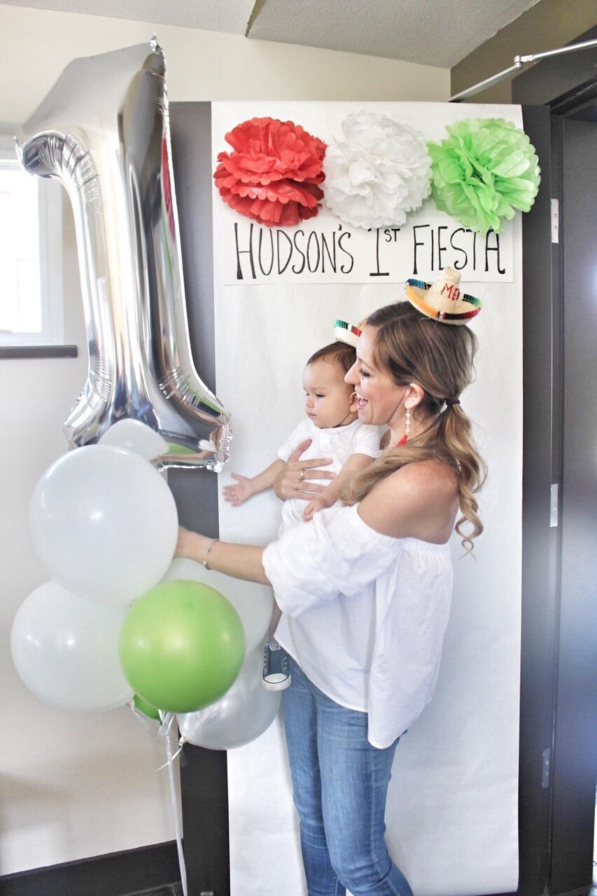 Hudsons first fiesta party!