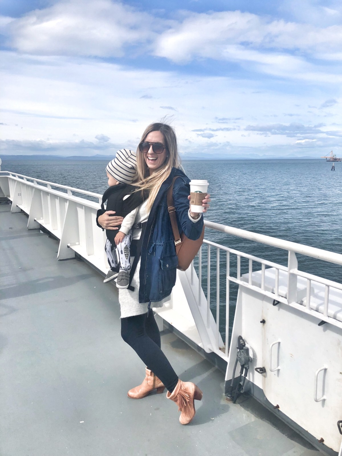 on the ferry to victoria