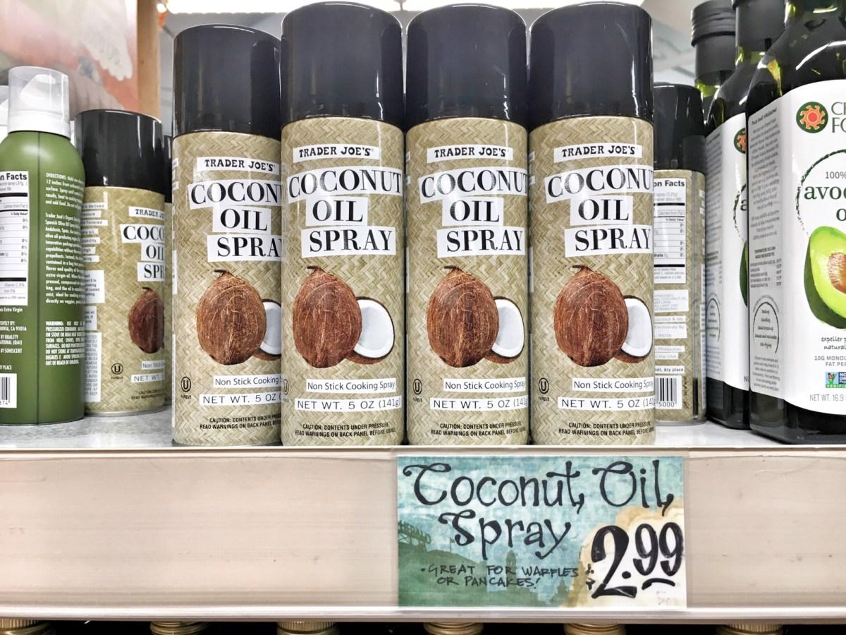 trader joes coconut spray oil