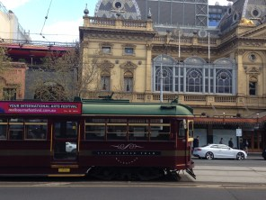 Princess Theatre and old Melbourne Tram