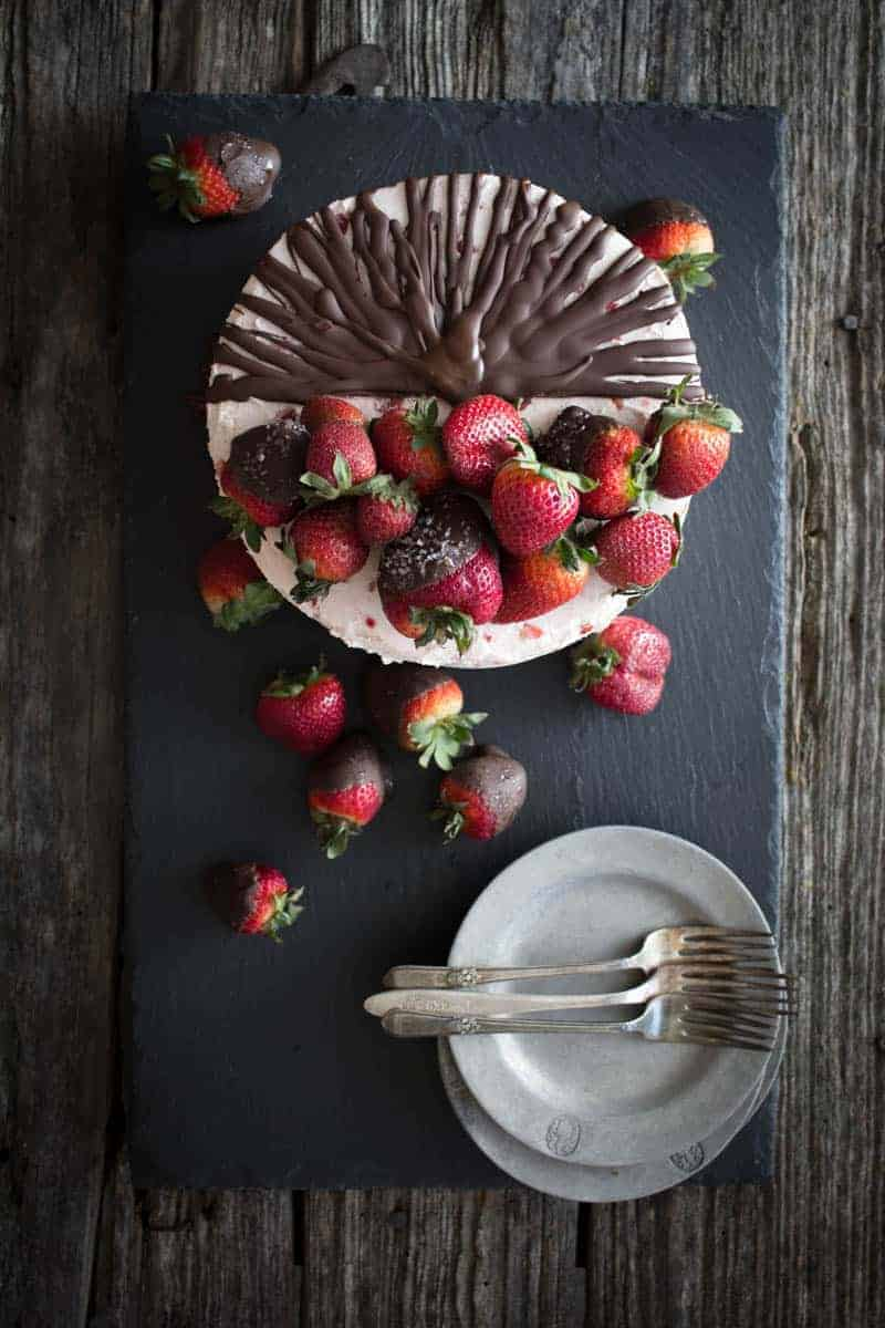 Chocolate Covered Strawberry Cake | This Mess is Ours