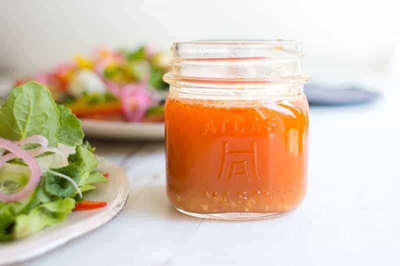 Sriracha Vinaigrette & Bánh mì Salad recipe from Pure Delicious by @HeatherChristo