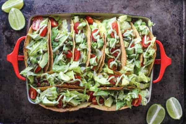 Super Easy Taco Bake recipe || @thismessisours #glutenfree #vegetarian