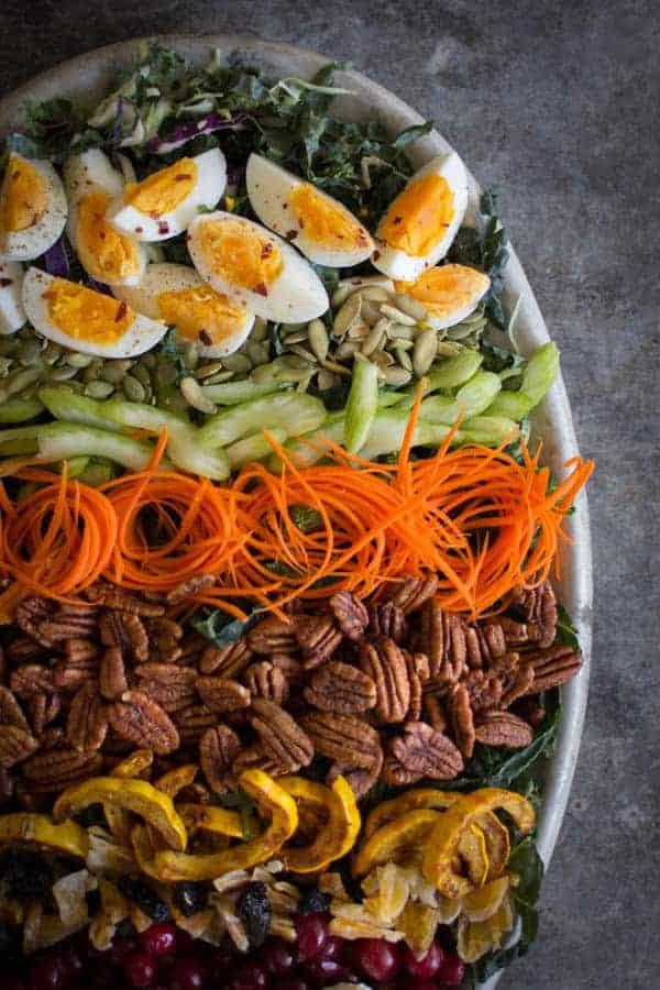 Autumn Cobb Salad with Turmeric Poppy Seed Dressing | @beardandbonnet