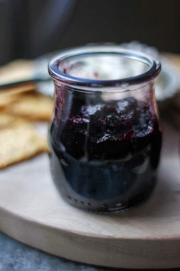 Blueberry lavender jam recipe || @thismessisours @crunchmaster #vegan #glutenfree #spon